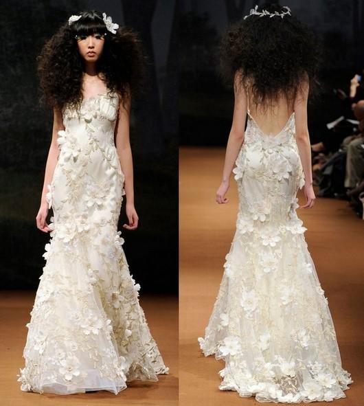 Свадебные платья айвори коллекции Claire Pettibone 2011-2012