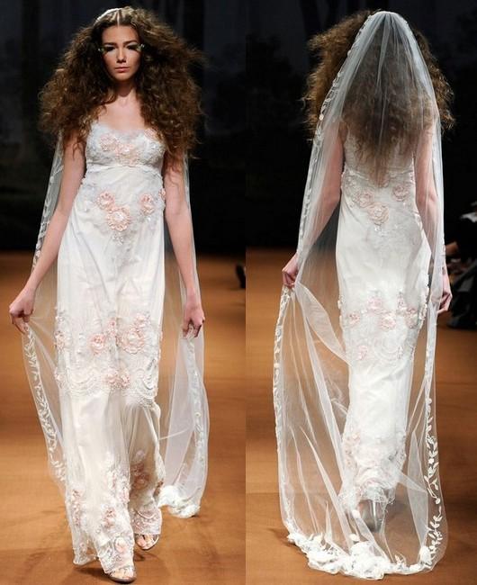 Свадебные платья айвори Claire Pettibone