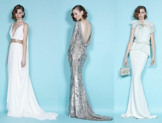Вечерние платья Marchesa 2012