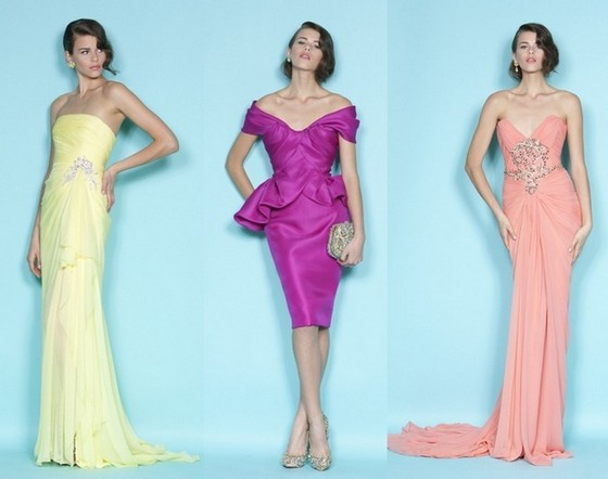 Платья Весна-Лето 2012 от Маркизы (Marchesa)