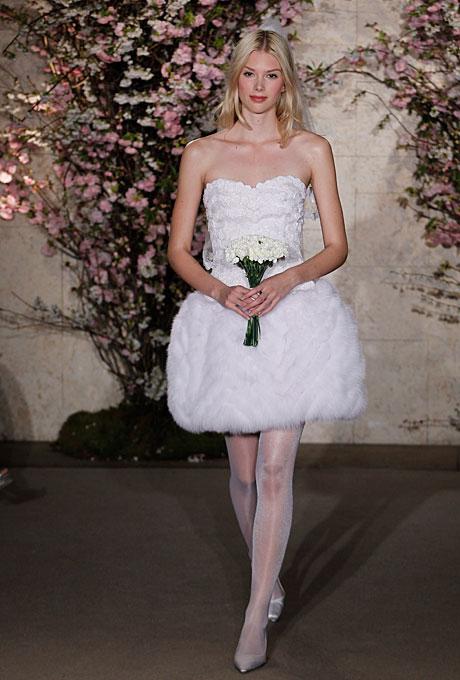 Короткие свадебные платья 2012 - Oscar de la Renta
