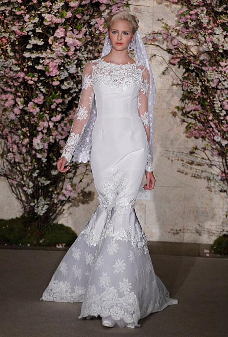 Oscar de la renta свадебные платья весна