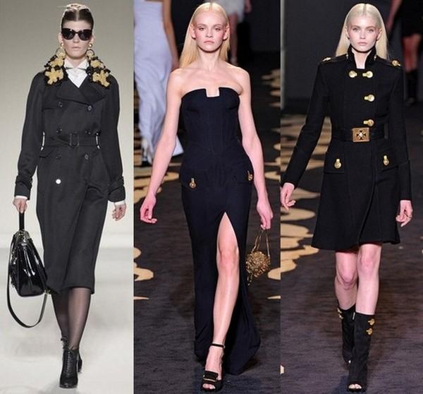 Модные платья в стиле милитари: декор и аксессуары.