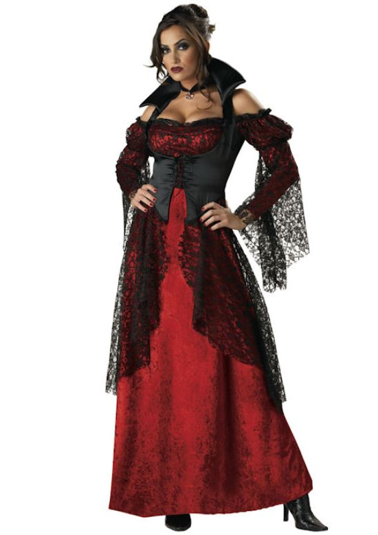 Платье вампирши на Хэллоуин
