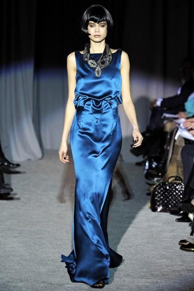 Вечернее синее платье от Дугласа Хананта