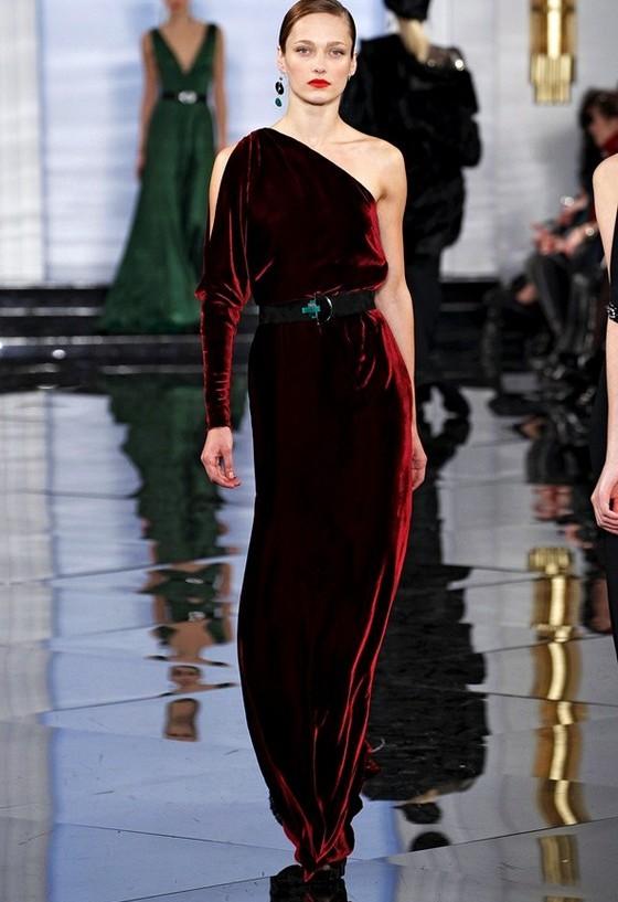 Вечернее бархатное платье Ральф Лорен