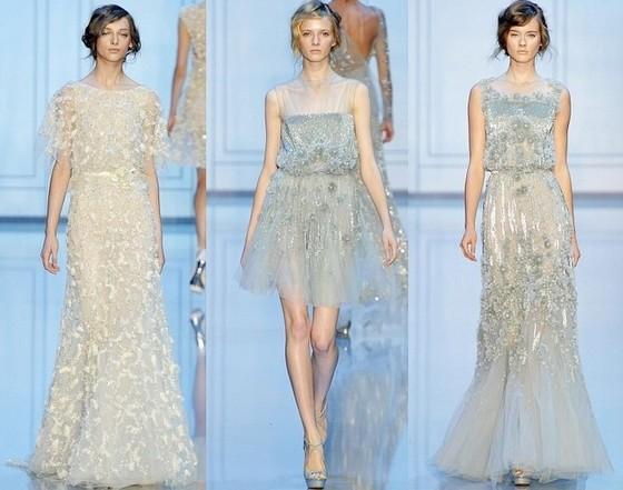 Бархатные платья Elie Saab, коллекция Осень-Зима 2011-2012