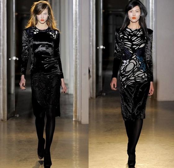 Платье из черного бархата, Rue du Mail