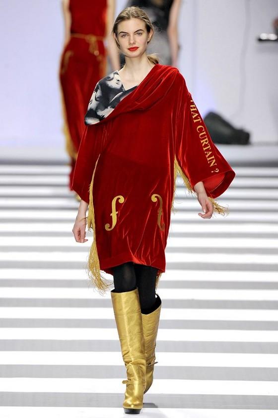 Красное бархатное платье от Жана-Шарля де Кастельбажака