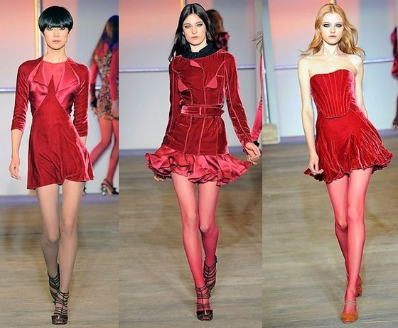 Красные бархатные платья 2011, Zac Posen