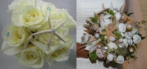 Букет невесты к свадебному платью в морском стиле