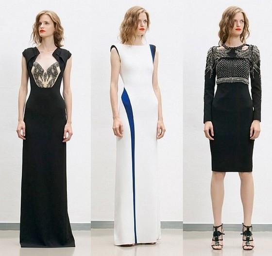 Вечерние платья в морском стиле от Antonio Berardi