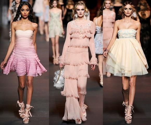 Розовые платья Christian Dior 2012.