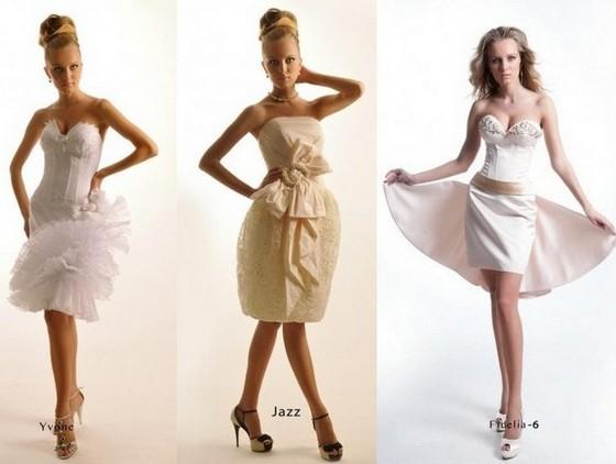 Оксана Муха – свадебные платья короткие