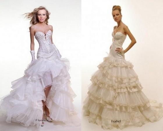 Свадебные платья со шлейфом оксана