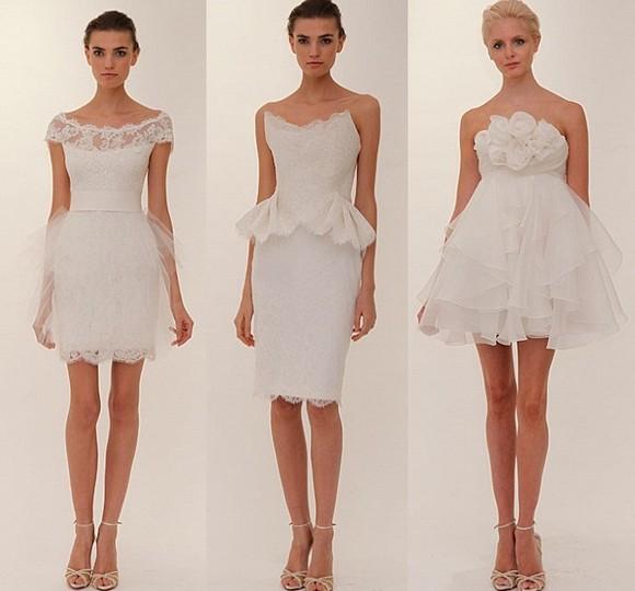 Свадебные платья 2012 короткие, Marchesa