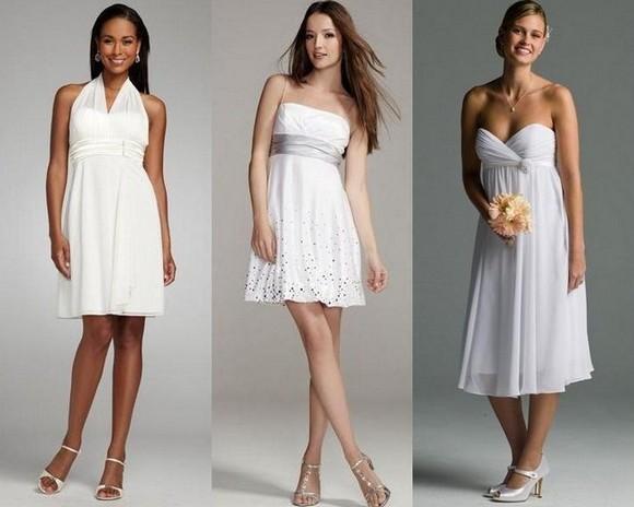 Короткие модели свадебных платьев фото