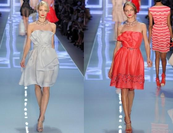 Короткие вечерние платья от Christian Dior, Весна-Лето 2012