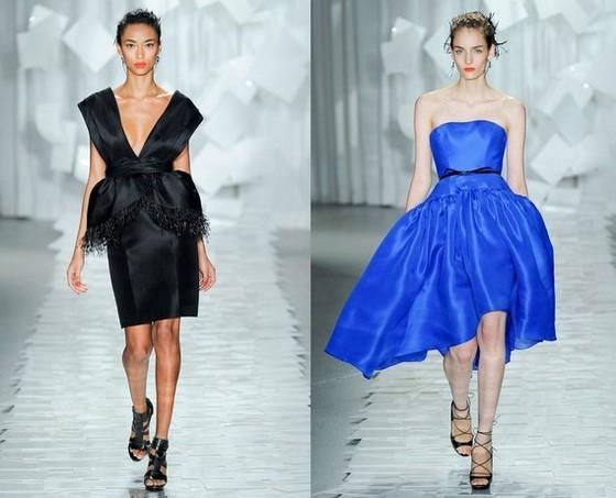 Короткие вечерние платья от Jason Wu, Весна-Лето 2012