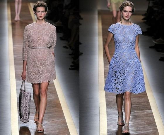 Короткие кружевные платья Валентино 2012