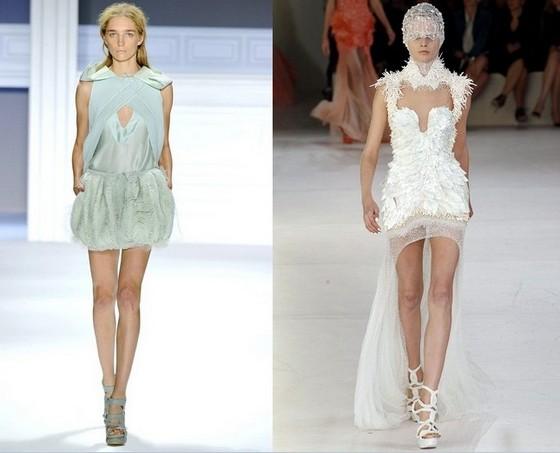 Короткие платья 2012, Вера Вонг и Александр Маккуин
