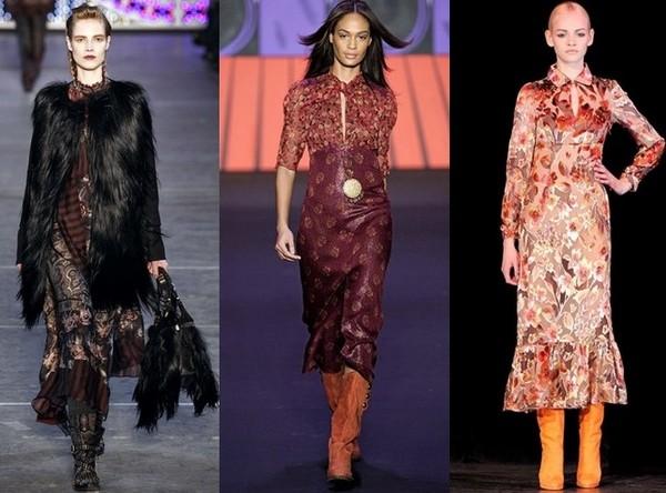 Платья в стиле хиппи от Kenzo, Anna Sui, Paul&Joe
