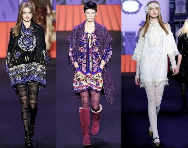 Платья-хиппи, коллекция Осень-Зима 2011-2012 от Анны Шуи