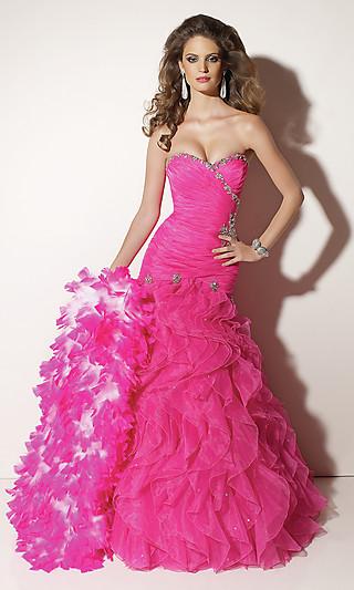 Розовое платье на выпускной 2012
