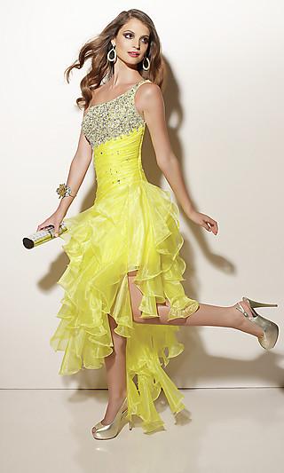Желтое платье на выпускной 2012