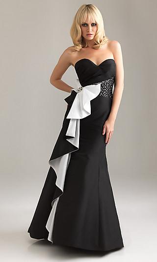Платье на выпускной 2012 черное с белым