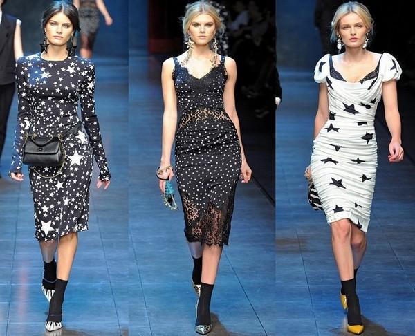 Платья со звездами DOLCE&GABBANA - коллекция Осень-Зима 2011-2012