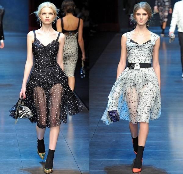 Шифоновые платья Dolce&Gabbana