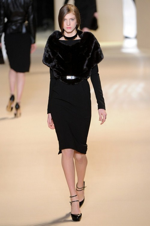 Платье с мехом Осень-Зима 2011-2012 от Elie Saab