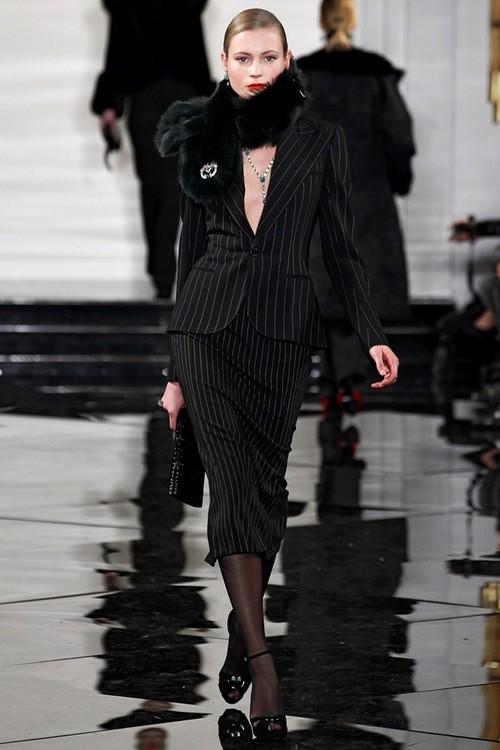 Вечерние платья с мехом Ralph Lauren