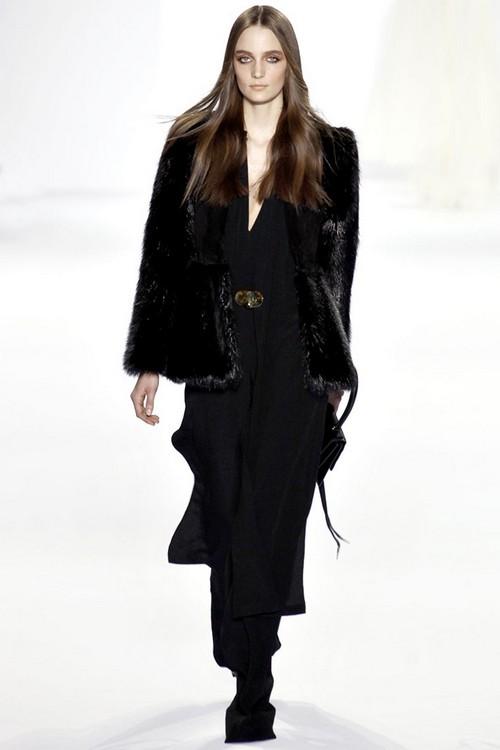 Платье с меховым жакетом Chloe