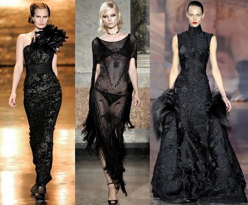 Вечерние платья с перьями от Badgley Mischka, Emilio Pucci и Giles