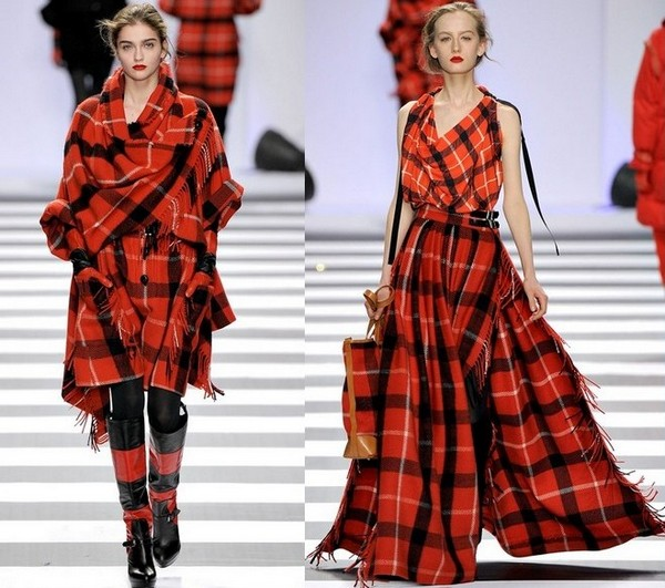 Женская одежда шотландская клетка
