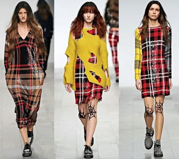 Платья в клетку модный тренд сезона