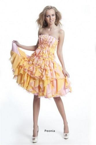 Вечернее короткое платье Оксаны Мухи