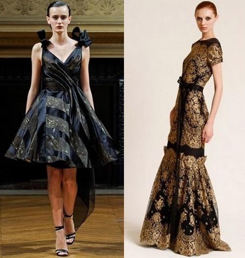 Новогодние платья 2012 по зодиаку
