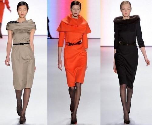 Модные платья зима 2012 от Каролины Эрреры (Carolina Herrera)