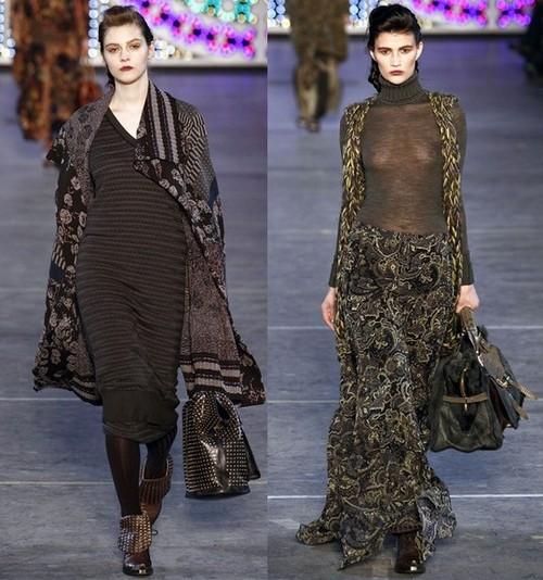 Теплые платья зима 2012, Кензо