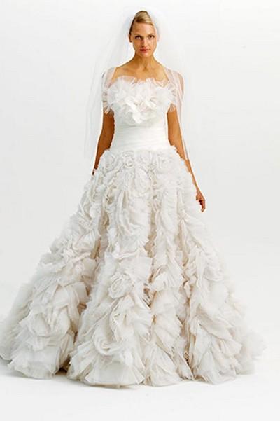 Свадебное платье зима 2012, MARCHESA