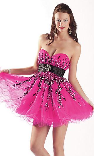 Выпускные платья 2012 короткие фото