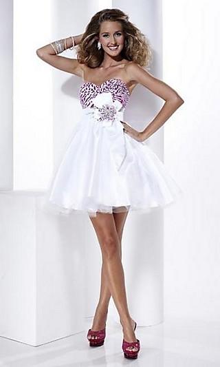 Белые короткие платья на выпускной