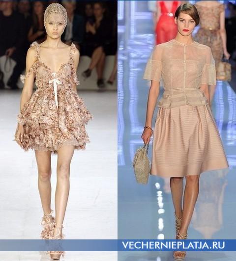Модные платья Весна-Лето 2012 Alexander McQueen и Christian Dior