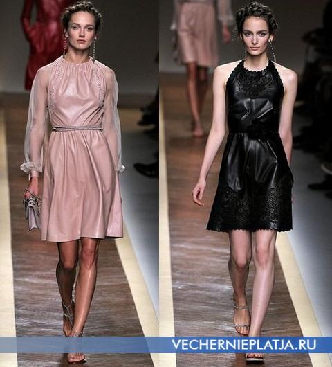 Кожаные платья весна-лето 2012 от Валентино