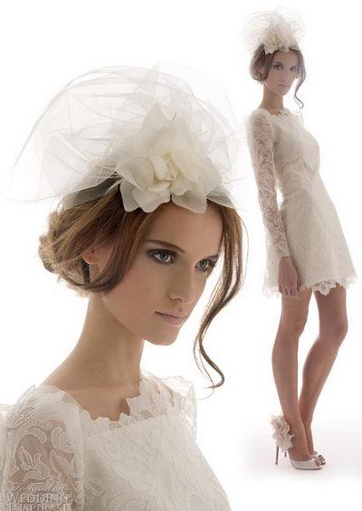 Свадебные платья в стиле ретро - макияж и аксессуары