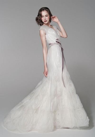 Свадебные платья в стиле ретро из органзы