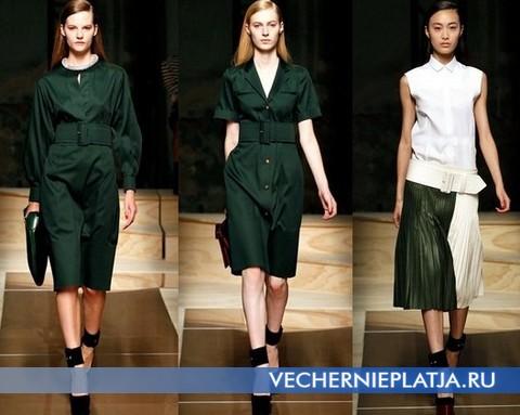 Темно-зеленые платья от Celine - коллекция Весна-Лето 2012